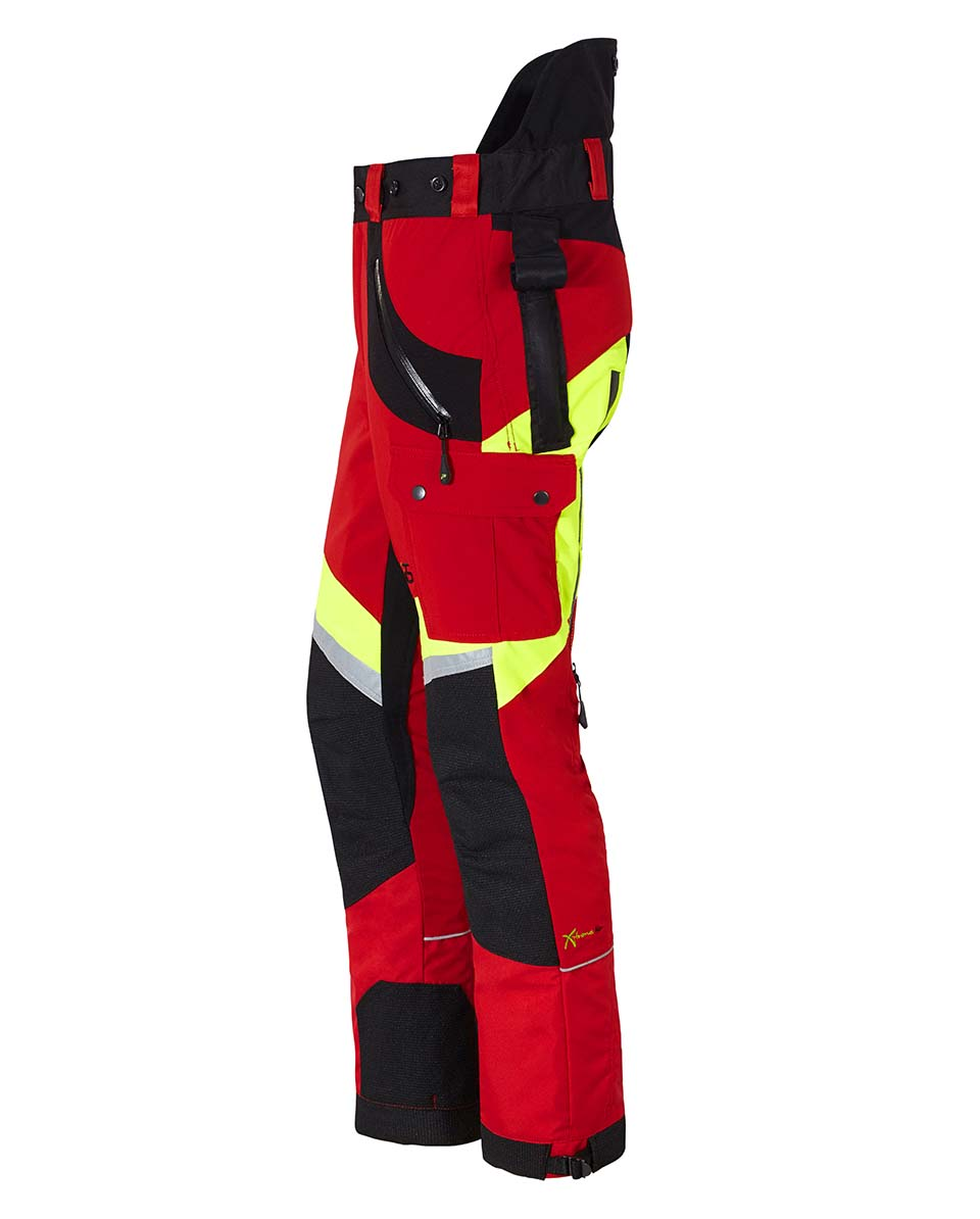 Pantalon anti coupures x treme air rouge jaune kox sarl - Pantalon de bucheron ...