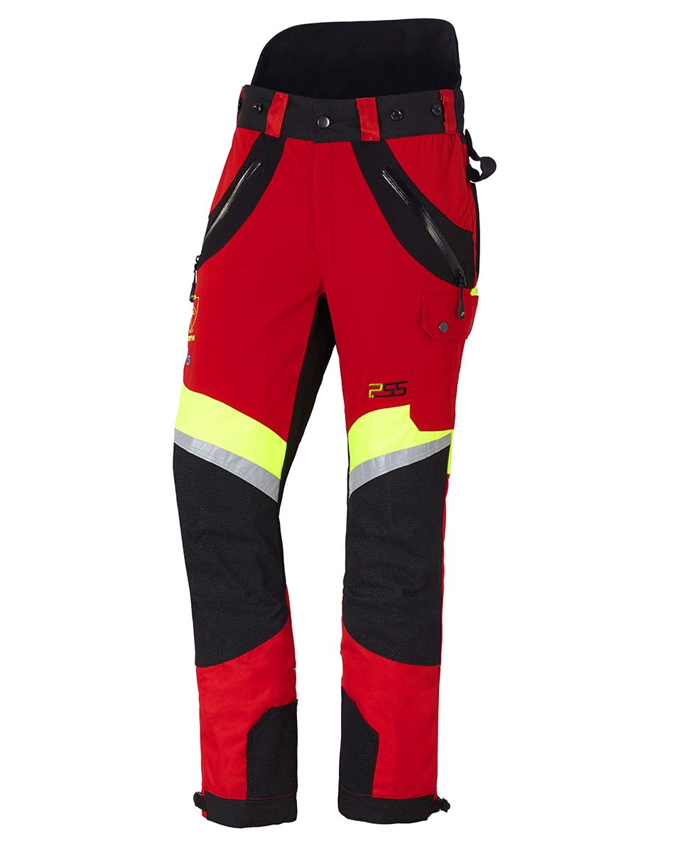 Pantalon anti-coupures X-treme Air rouge/jaune