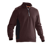 Sweat-shirt JOBMAN 5401 marron/noir