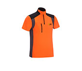 T-shirt à manches courtes PSS X-treme Skin, en orange/gris, XX77157
