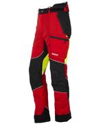 KOX Light pantalon de protection anti-coupures, rouge/jaune, XX71225