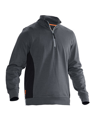 Sweat-shirt JOBMAN 5401 gris/noir