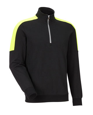 Sweat-shirt JOBMAN 5401 Noir/jaune