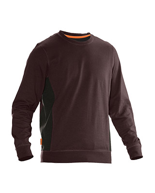 Sweat-shirt JOBMAN 5402 marron/noir