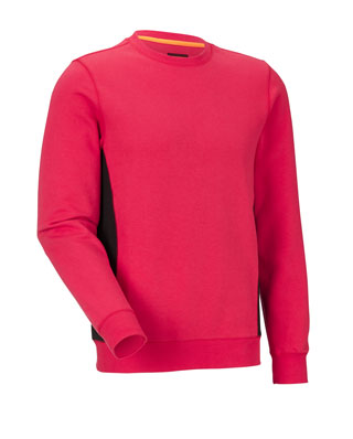 Sweat-shirt JOBMAN 5402 Rouge/noir